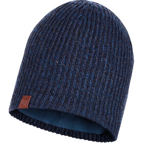 Buff Lifestyle Knitted and Polar Fleece Hat lyne night blue